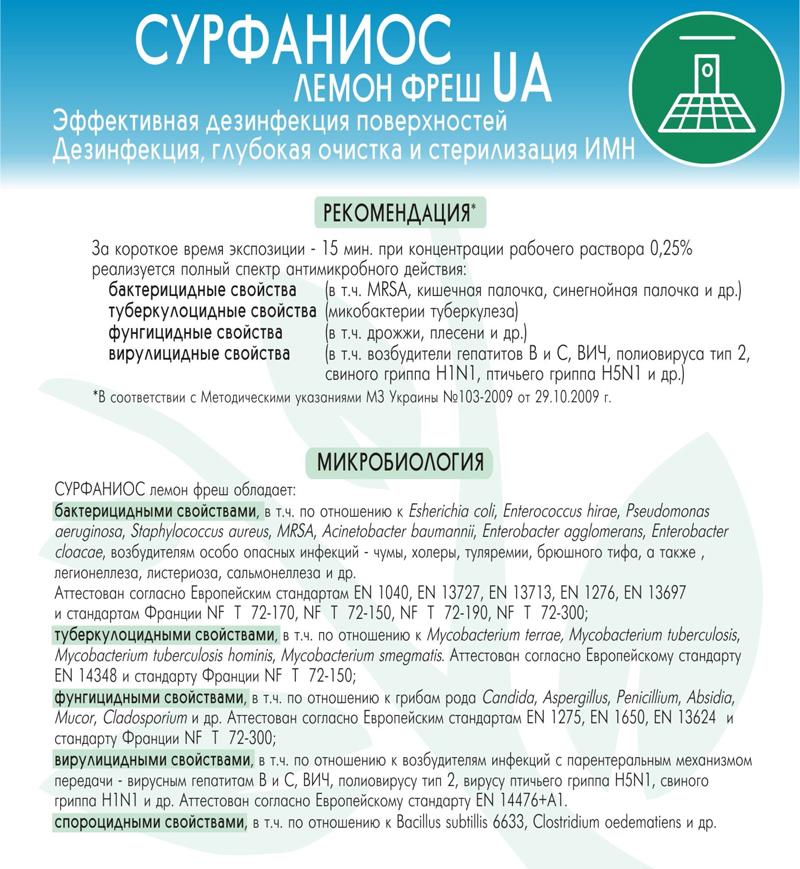 Cурфаниос лемон фреш UA