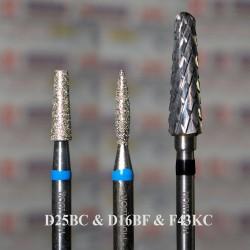 Набор из 2 алмазов D25BC, D21BB и фрезы F43KC