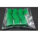 10 pcs, ∅ 13mm, 80 Grit, Medium, MULTIBOR PEDICURE SANDING CAPS Green